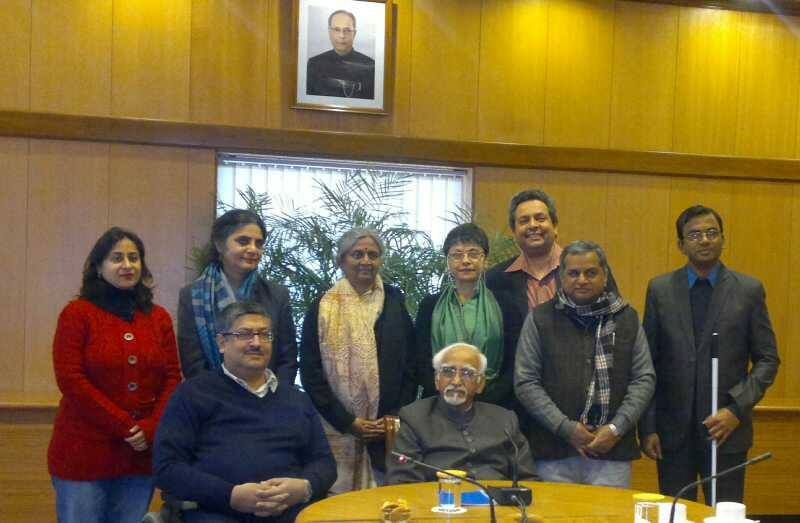 Delegation of Disabled Activists Meets Shri Hamid Ansari, Vice President of India