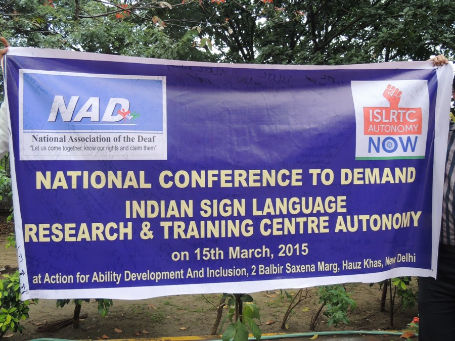 National Deaf Conference on Demand Indian Sign Language & Research Training Centre, Autonomy