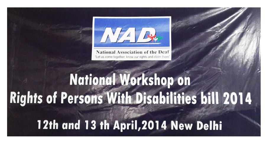 National Workshop on the Rights of Persons With Disabilities Bill 2014