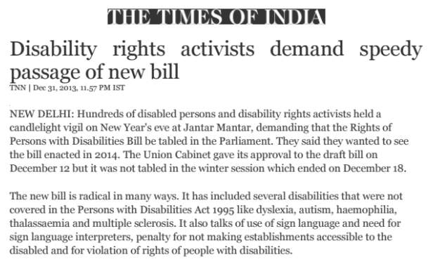 Disability Rights Activists Demand Speedy Passage of New Bill