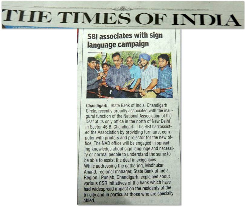 SBI associates with sign language campaign