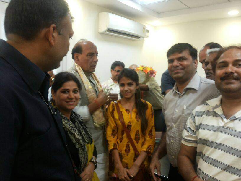 Delegation of NAD Team Meets & Congratulates Shri Rajnath Singh, President BJP