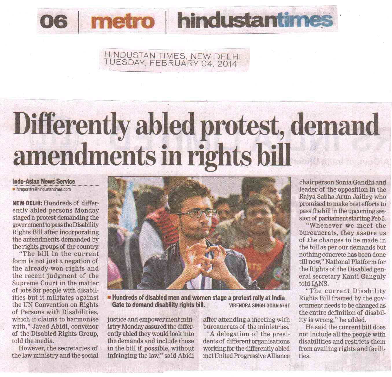 Differently abled protest, demand amendments in rights bill