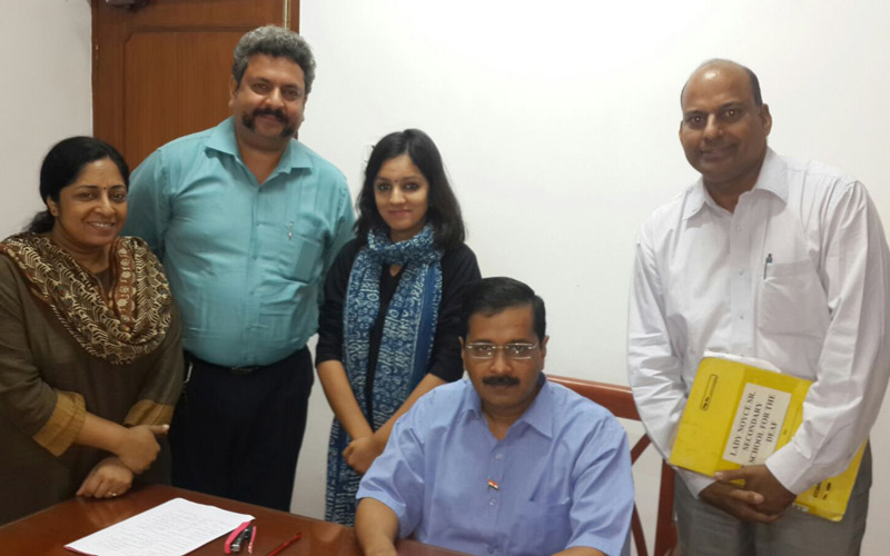 NAD Team met Hon'ble Chief Minster of Delhi Shri Arvind Kejriwal