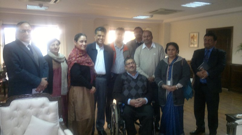 Delegation of Disabled Activists Meets Shri. Manish Tewari, Minister for Information & Broadcasting