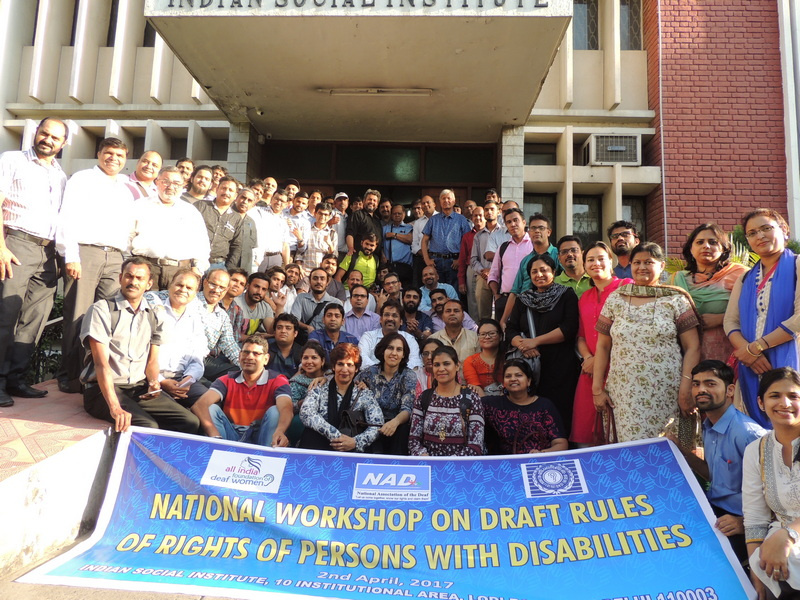 NATIONAL WORKSHOP ON DRAFT RULES OF RIGHTS OF PERSONS WITH DISABILITIES