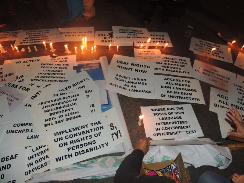 Candle Light Vigil & Protest to Demand  Pass the Disability Rights Bill on the Eve New Year