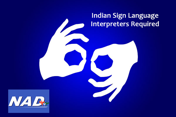 Walk-in-Interviews for ISL Interpreters