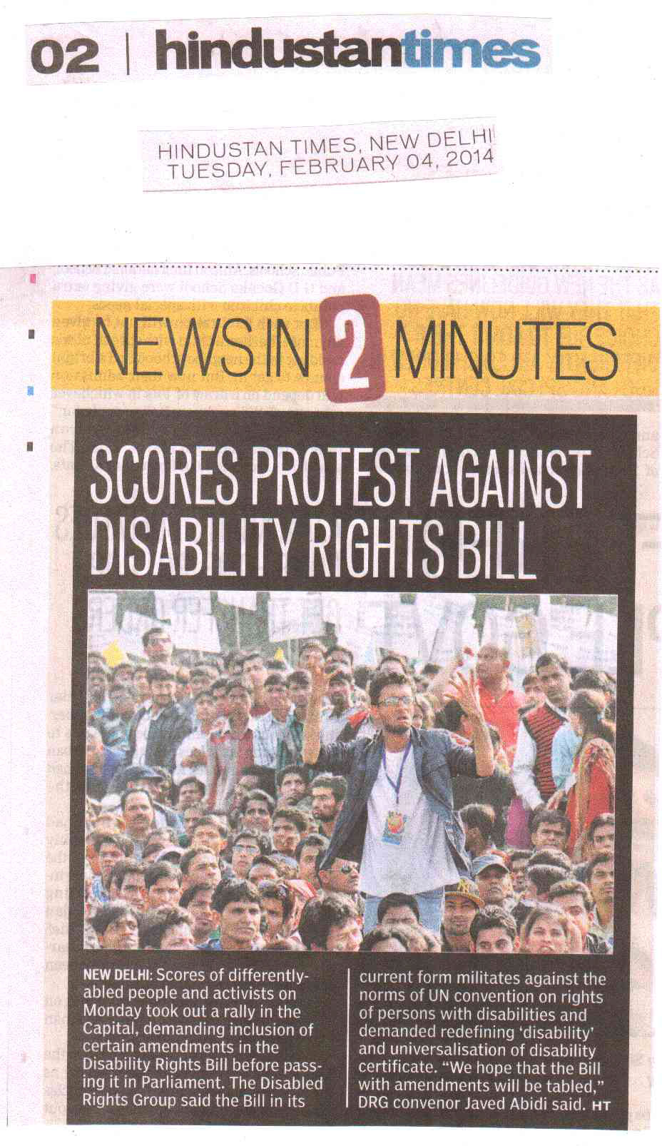 Scores Protest Against Disabilitiy Rights Bill